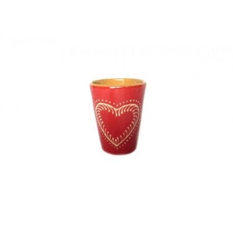 Gobelet - Rouge - Coeur