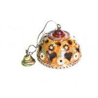 Lampe rustique - faux Bois - Marguerite