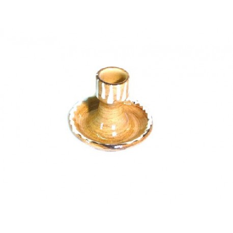 Mini bougeoir - Faux Bois - Marguerite