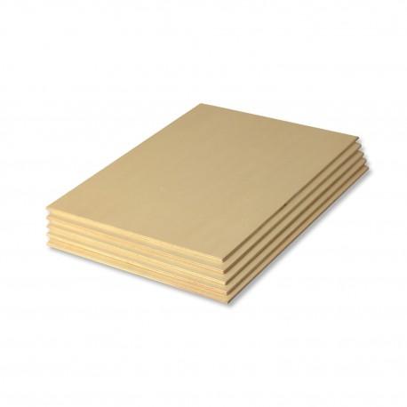 Set de 5 planches en bois rectangulaires