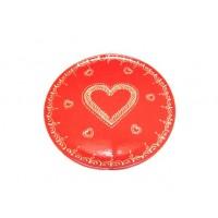Plat pour service de la tarte - Rouge - Coeur