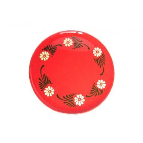 Plat pour service de la tarte - Rouge - Marguerite