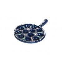 Plat à escargots 12 trous - Bleu - Marguerite