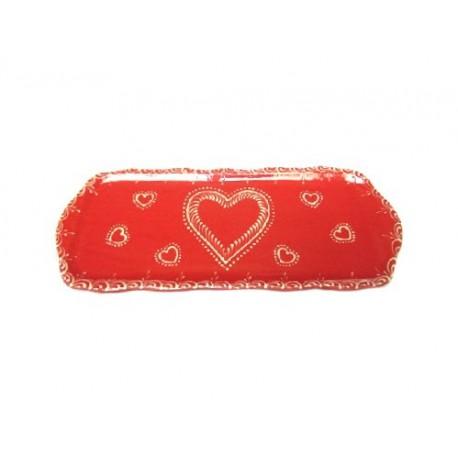 Plat à Cake - Rouge - Coeur