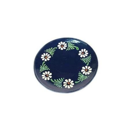 Assiette plate - Bleu - Marguerite
