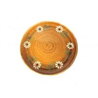 Assiette plate - Faux Bois - Marguerite