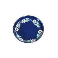assiette creuse en terre cuite bleu marguerite poterie d 39 alsace alsace tradition. Black Bedroom Furniture Sets. Home Design Ideas