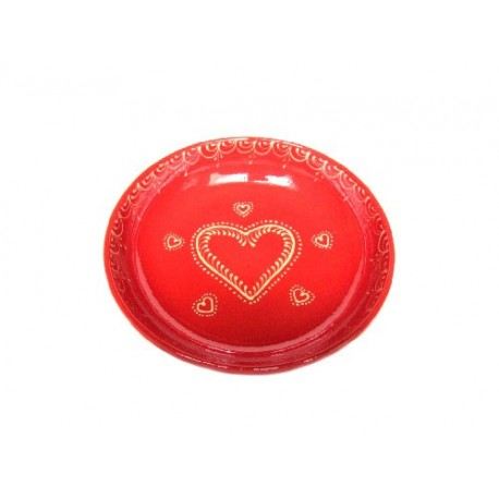 Assiette creuse - Rouge - Coeur