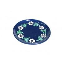 Assiette à dessert - Bleu - Marguerite