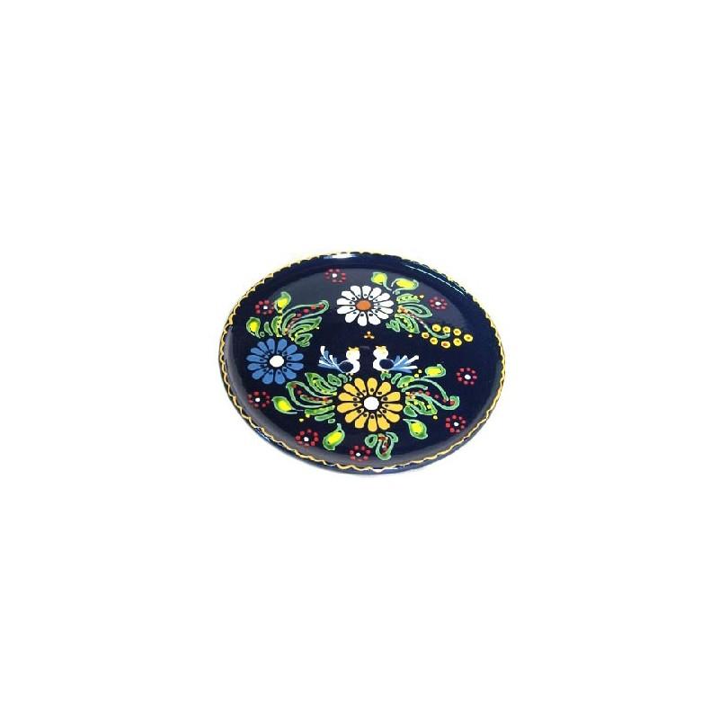assiette dessert en terre cuite bleu oiseaux poterie alsacienne alsace tradition. Black Bedroom Furniture Sets. Home Design Ideas