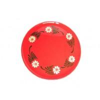 Assiette à dessert - Rouge - Marguerite