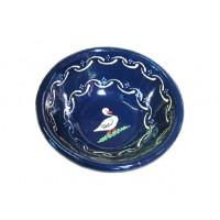 Saladier bas - Bleu - Oies