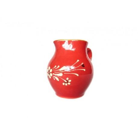 Cruche - Rouge - Fleurs